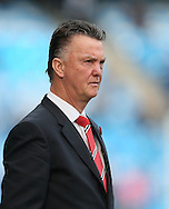 Manchester United's Louis Van Gaal looks on <br /> <br /> - Barclays Premier League - Manchester City vs Manchester Utd - Etihad Stadium - Manchester - England - 2nd November 2014  - Picture David Klein/Sportimage