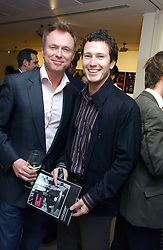 Left to right, GARY KEMP and actor NICK MORAN at an exhibition of photographs entitled 'Protect The Human' by photographers Jake Gavin and Sean Gleason commissioned by Amnesty Internationlal and held at The Hospital, 24 Endell Street, London WC2 on 31st May 2006.<br /><br />NON EXCLUSIVE - WORLD RIGHTS