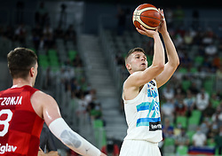 Edo Muric of Slovenia during friendly basketball match between National teams of Slovenia and Croatia, on June 18, 2021 in Arena Stozice, Ljubljana, Slovenia. Photo by Vid Ponikvar / Sportida