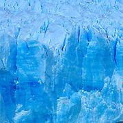 Close up view of enormous Perito Moreno Glacier in Parque Nacional las Glaciares, Patagonia, Argentina.