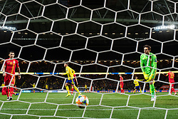 March 23, 2019 - Stockholm, SWEDEN - 190323 Goalkeeper Ciprian Tatarusanu of Romania looks dejected after letting in 2-0 from Viktor Claesson of Sweden (not pictured) during the UEFA Euro Qualifier football match between Sweden and Romania on March 23, 2019 in Stockholm..Photo: Joel Marklund / BILDBYRÃ…N / kod JM / 87914 (Credit Image: © Joel Marklund/Bildbyran via ZUMA Press)