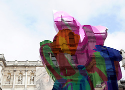 © under license to London News Pictures. LONDON, UK  17/05/2011. 'Coloring Book' by artist Jeff Koons was unveiled today (17 May 2011), ahead of the Summer Exhibition, in the Royal Academy's Annenberg Courtyard. Jeff Koons was elected Honorary Royal Academician in 2010. Photo credit should read Stephen Simpson/LNP.
