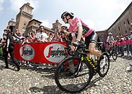 Start Simon Yates (GBR - Mitchelton - Scott) pink leader jersey during the 101th Tour of Italy, Giro d'Italia 2018, stage 13, Ferrara - Nervesa della Battaglia 180 km on May 18, 2018 in Italy - Photo Roberto Bettini / BettiniPhoto / ProSportsImages / DPPI