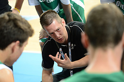 Milos Sporar, head coach of Slovenia during basketball match between National teams of Serbia and Slovenia in Division A of U16 Men European Championship Lithuania 2012, on July 21, 2012 in Panevezys, Lithuania. (Photo by Robertas Dackus / Sportida.com)