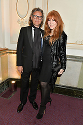 GEORGE WAUD and CHARLOTTE TILBURY at The Backstage Gala hosted by Diana Vishneva , Principal Dancer of the Mariinsky and American Ballet Theatre, and Natalia Vodianova in aid of The Naked Heart Foundation held at The London Coliseum, St.Martin's Lane, London on 17th April 2015.