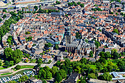 Nederland, Gelderland, Gemeente Zutphen, 17-07-2017; overzicht van de binnenstad met Sint Walburgiskerk en Librije.<br /> Overview of the town with St. Walburga Church and Librije (medieval library).<br /> luchtfoto (toeslag op standard tarieven);<br /> aerial photo (additional fee required);<br /> copyright foto/photo Siebe Swart