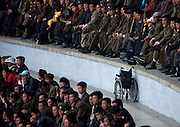 NORTH KOREA:<br /> The pictures Kim Jong Un doesn't want you to see<br /> <br /> Since 2008, Eric Lafforgue ventured to North Korea six times. Thanks to digital memory cards, I was able to save photos that I was forbidden to take or was told to delete by the minders.<br /> <br /> Photo Shows:   A very rare picture of a wheelchair. In six trips, I saw only two of them.<br /> ©Eric Lafforgue/Exclusivepix Media