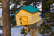 Log cabin mailbox, June Lake, California