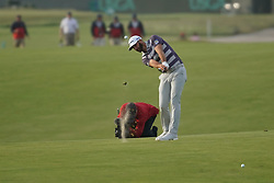 June 16, 2018 - Southampton, NY, USA - Dustin Johnson approaches the 16th green during the third round of the 2018 U.S. Open at Shinnecock Hills Country Club in Southampton, N.Y., on Saturday, June 16, 2018. (Credit Image: © Brian Ciancio/TNS via ZUMA Wire)