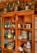 Dining room in frontier home from the late 1800's