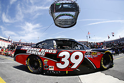April 13, 2018 - Bristol, Tennessee, United States of America - April 13, 2018 - Bristol, Tennessee, USA: Ryan Sieg (39) drives his car under Colossus TV during opening practice for the Fitzgerald Glider Kits 300 at Bristol Motor Speedway in Bristol, Tennessee. (Credit Image: © Chris Owens Asp Inc/ASP via ZUMA Wire)