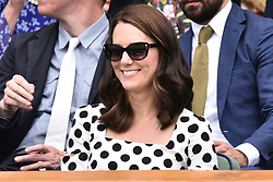July 3, 2017 - London, London, UK - The Duchess of Cambridge watches centre court tennis on the first day of the Wimbledon Lawn Tennis Championships (Credit Image: © Ray Tang via ZUMA Wire)