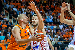 24-11-2017 NED: WC qualification Netherlands - Croatia, Almere<br /> First Round - Group D at the arena Topsportcentrum / Nick Oudendag #14 of Netherlands, Miro Bilan #15 of Croatia