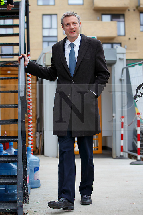 © Licensed to London News Pictures. 15/03/2016. London, UK. Conservative candidate for Mayor of London Zac Goldsmith visits the construction site of Barnet & Southgate College's new campus to unveil his new housing pledges as part of his action plan for Greater London. Photo credit: Tolga Akmen/LNP