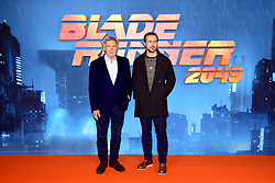 Harrison Ford (left) and Ryan Gosling attending the Blade Runner 2049 photocall at the Corinthia Hotel, London.