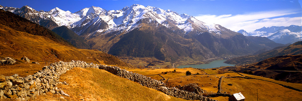 SPAIN, PYRENEES, ARAGON Pyrenees above Lake Lanuza near Formagal ski resort near French border north of Jaca