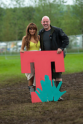 Nicola Benedetti T in the Park creator Geoff Ellis, backstage on Sunday at T in the Park 2012, held at Balado, in Fife, Scotland.