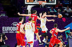 Milan Macvan of Serbia vs Aleksei Shved of Russia during basketball match between National Teams of Russia and Serbia at Day 16 in Semifinal of the FIBA EuroBasket 2017 at Sinan Erdem Dome in Istanbul, Turkey on September 15, 2017. Photo by Vid Ponikvar / Sportida