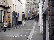 Shopping street, St Peter Port, Guernsey, Channel Islands, UK