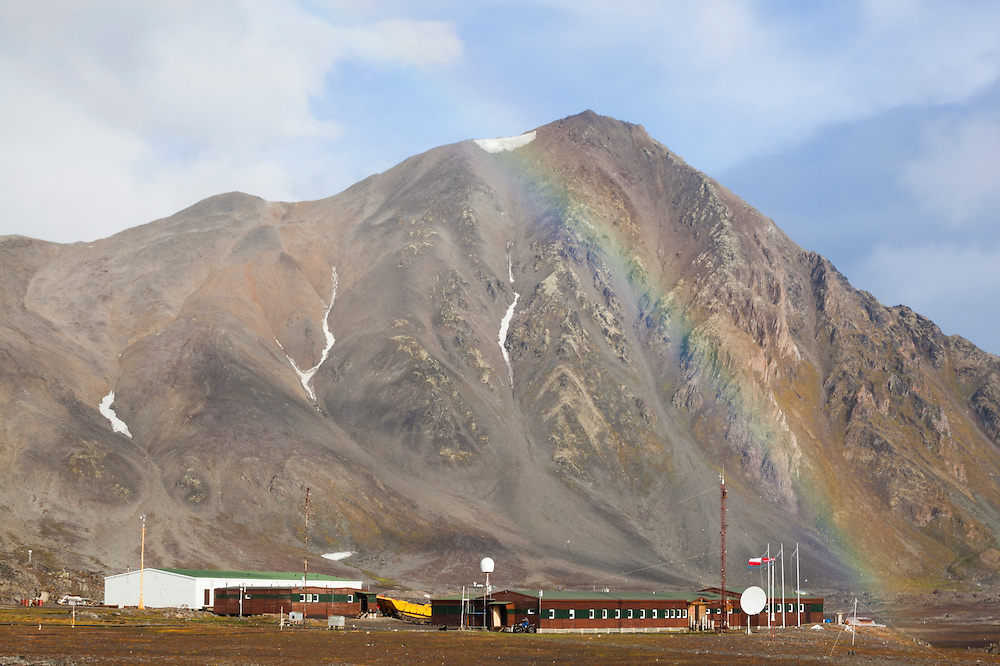 Polish Polar Station in Hornsund, Svalbard. Established in 1957, the station has operated year-round since 1978, and is run by the Institute of Geophysics of the Polish Academic of Sciences.