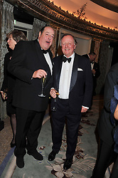 Left to right, The HON.NICHOLAS SOAMES and ANDREW PARKER BOWLES at the 21st Cartier Racing Awards held at The Dorchester, Park Lane, London on 15th November 2011.