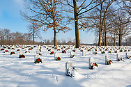 65095-03018 Wreaths on graves in winter Jefferson Barracks National Cemetery St. Louis,  MO