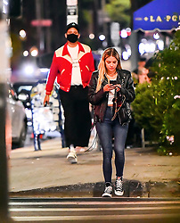 Ashley Benson & G-Eazy were spotted having a romantic dinner date Outside La Poubelle in Hollywood, CA. The two were spotted chatting and laughing it up as they showed some PDA while dining, they were even visited by Lili Reinhart of 'Riverdale' who was also dining there. The two were spotted joyfully walking back to their car after dinner. 21 Jun 2020 Pictured: Ashley Benson & G-Eazy were spotted having a romantic dinner date Outside La Poubelle in Hollywood, CA. The two were spotted chatting and laughing it up as they showed some PDA while dining, they were even visited by Lili Reinhart of 'Riverdale' who was also dining there. The two were spotted joyfully walking back to their car after dinner. Photo credit: Roger That/ MEGA TheMegaAgency.com +1 888 505 6342