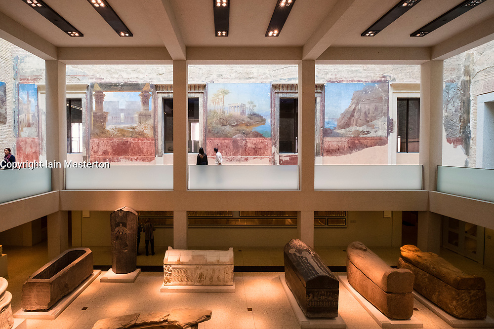 Interior of Neues Museum , Egyptian Court,  on Museum Island , Museumsinsel, Berlin, Germany