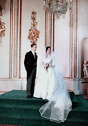 Princess Margaret and the Earl of Snowdon at Buckingham Palace.
