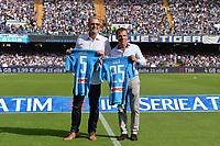 Fromer Napoli players Ruud Krol and Gianfranco Zola <br /> Napoli 15-10-2016  Stadio San Paolo <br /> Campionato Serie A Napoli - AS Roma <br /> Foto Andrea Staccioli / Insidefoto