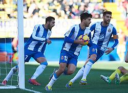 February 3, 2019 - Vila-Real, Castellon, Spain - RCD Espanyol players celebrates a goal during the La Liga match between Villarreal and Espanyol at Estadio de la Ceramica on February 3, 2019 in Vila-real, Spain. (Credit Image: © AFP7 via ZUMA Wire)