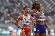 Anna Sabat (Poland), Shelayna Oskan-Clarke (Great Britain), Women's 800m Heats Round 1, during the 2019 IAAF World Athletics Championships at Khalifa International Stadium, Doha, Qatar on 27 September 2019.