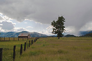 Cyclonic Thunderhead Over Indian Head From Taylorsville, Wooden Barn, California Mountains, Sierra Nevada Mountains, Mountain Valley, Rustic Barn, Fence Posts, Barbed Wire Fences, Stormy Sky, Cloudy Sky, Indian Valley