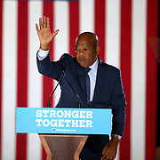 Rep. John Lewis, of Georgia, campaigns for Democratic Presidential nominee Hillary Clinton on Friday, February 12,  2016 at the Sanford Civic Center in Sanford, Florida (Alex Menendez via AP)