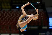 """Milena Baldassarri during the """"1st Trofeo Citta di Monza"""". On this occasion we have seen the rhythmic gymnastics teams of Belarus and Italy challenge each other. The Bilateral period was only June 9, 2019 at the Candy Arena in Monza, Italy."""