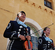 Pueblo High School's Mariachi Aztlan in concert at Tucson's first-ever Fiesta en el Barrio Viejo in 2010.
