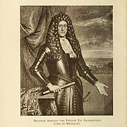 Hendrik van Rheede [Hendrik Adriaan van Rheede tot Drakenstein (Amsterdam, 13 April 1636 – at sea, 15 December 1691) was a military man and a colonial administrator of the Dutch East India Company and naturalist. Between 1669 and 1676 he served as a governor of Dutch Malabar and employed twenty-five people on his book Hortus Malabaricus, describing 740 plants in the region. As Lord of Mydrecht, he also played a role in the governance of the Cape colonies]. From the Book  ' Old Cape Colony; a chronicle of her men and houses from 1652-1806 ' by Trotter, Alys Fane (Keatinge), Mrs Publication date 1903 published by Westminster : A. Constable & co., ltd.