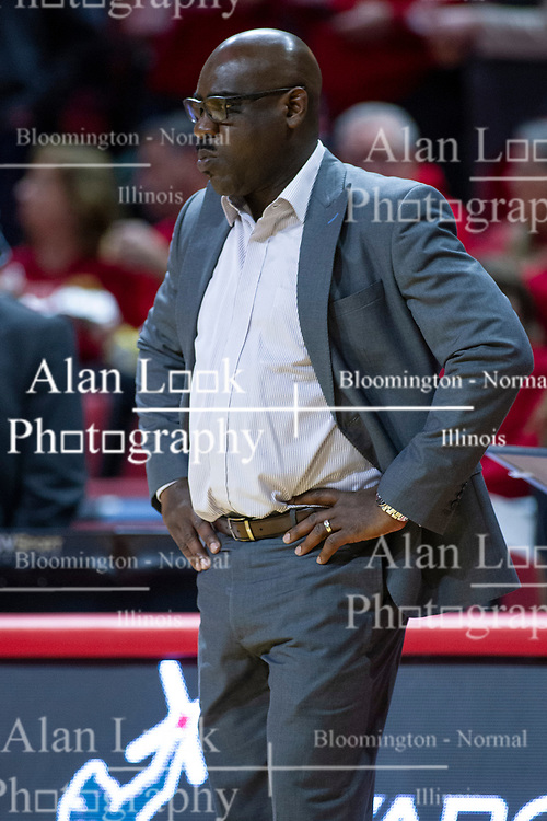 NORMAL, IL - January 29: Bennie Seltzer during a college basketball game between the ISU Redbirds and the University of Evansville Purple Aces on January 29 2020 at Redbird Arena in Normal, IL. (Photo by Alan Look)