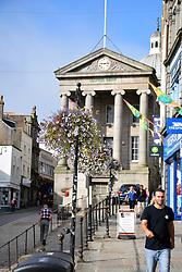 Lloyds Bank in the old Market House, Market Jew Street, Penzance, Cornwall UK