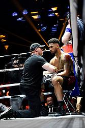 April 7, 2018 - Paris, France, France - Tony Yoka (Fra) - poids lourd.dans son coin (Credit Image: © Panoramic via ZUMA Press)
