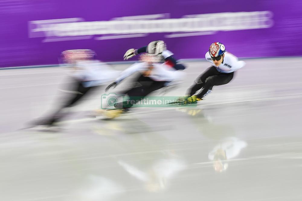 February 17, 2018 - Pyeongchang, Gangwon, South Korea - Seo Yira of South Korea competing in 1000 meter speed skating for men at Gangneung Ice Arena, Gangneung, South Korea on 17 February 2018. (Credit Image: © Ulrik Pedersen/NurPhoto via ZUMA Press)