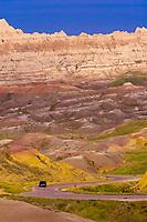 View from Conata Basin Overlook, Badlands National Park, South Dakota USA