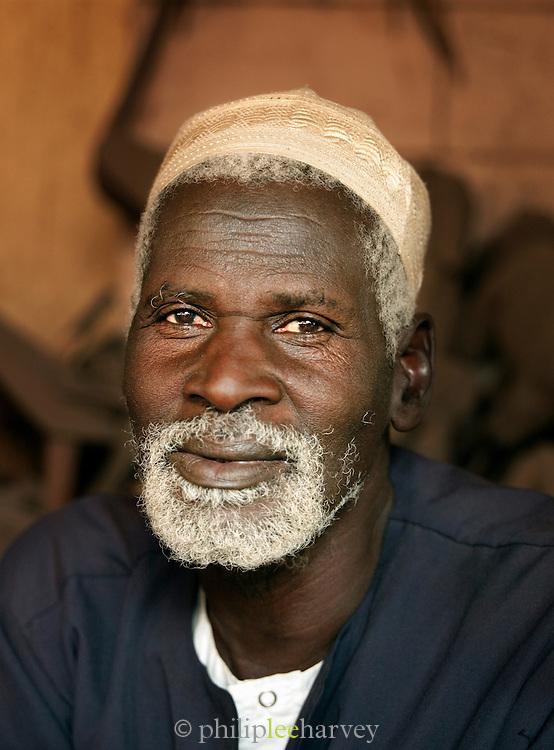 Portrait of an artisanal sculptuor in Bamako, Mali