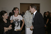 Maureen Paley, Rebecca Warren and Sir Nicholas Serota, Turner Prize 2006 private view of an exhibition of work by this year's shortlist (Rebecca Warren, Tomma Abts, Phil Collins and Mark Titchner) for visual arts prize. Tate Brittain. London 3 October 2006. -DO NOT ARCHIVE-© Copyright Photograph by Dafydd Jones 66 Stockwell Park Rd. London SW9 0DA Tel 020 7733 0108 www.dafjones.com