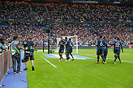 Olivier Giroud (FRA) scored a goal and celebrated it with Raphael Varane (FRA), Blaise Matuidi (FRA) during the UEFA Nations League, League A, Group 1 football match between France and Netherlands on September 9, 2018 at Stade de France stadium in Saint-Denis near Paris, France - Photo Stephane Allaman / ProSportsImages / DPPI