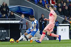 December 8, 2018 - Barcelona, Catalonia, Spain - RCD Espanyol forward Hernan Perez (17) during the match RCD Espanyol against FC Barcelona, for the round 15 of the Liga Santander, played at RCD Espanyol Stadium  on 8th December 2018 in Barcelona, Spain. (Credit Image: © Mikel Trigueros/NurPhoto via ZUMA Press)