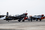 P-51 Mustang of Erickson Aircraft Collection starting up for aerial demonstration.