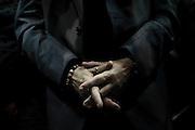 Le mani Nichi Vendola. Presentazione delle liste di Sinistra Ecologia e Libertà per Camera e Senato di Roma e del Lazio. Roma, 21 gennaio 2013. Christian Mantuano /  Oneshot