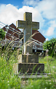 """Marlow, Bucks , United Kingdom, <br /> General View, GV, """" a Headstone in """"All Saints Church"""" Cemetery, Thursday,  15/06/2017<br /> <br /> <br />  © Peter SPURRIER Stone Cross, All Saints Church, Cemetary,"""