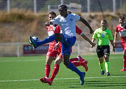 Elie Mavula (HIK) under træningskampen mellem FC Helsingør og HIK den 1. august 2020 på Helsingør Ny Stadion (Foto: Claus Birch).